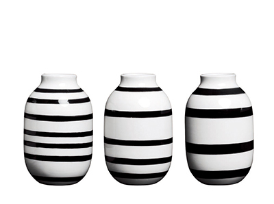 Omaggio vase ミニ3個セット ブラック